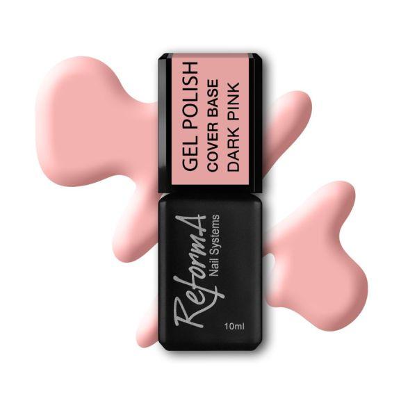 Gel Polish Cover Base Dark Pink