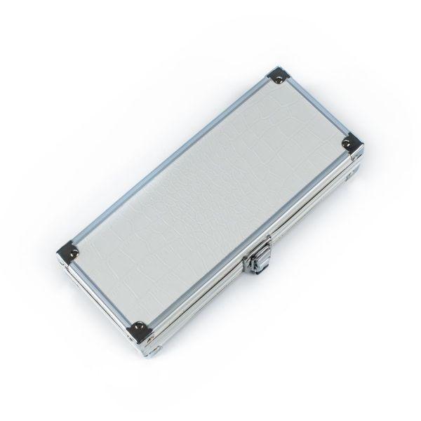 Metal pencil case - white