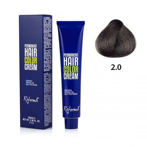 Hair Color Cream  2.0 - very dark brown, 100 ml