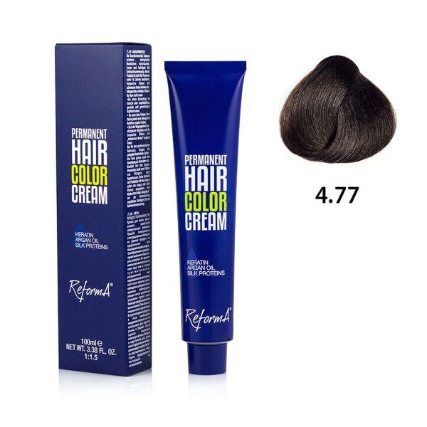 Hair Color Cream  4.77 - intense brown brown, 100 ml