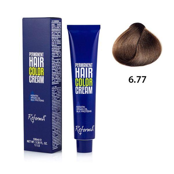 Hair Color Cream  6.77 - dark intense brown blonde, 100 ml