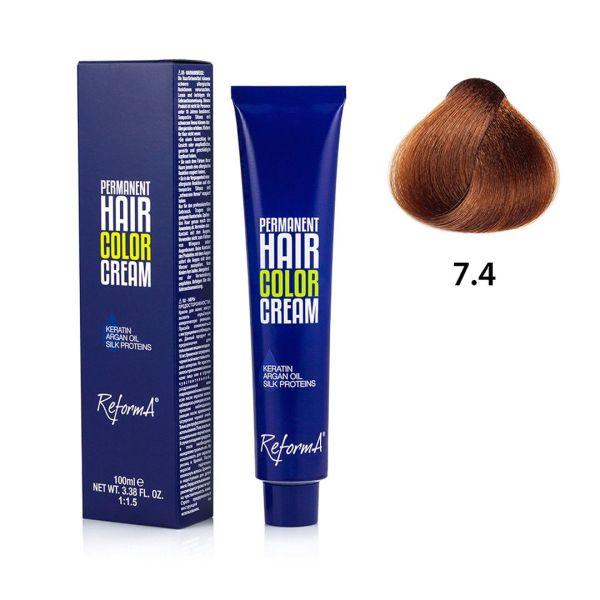 Hair Color Cream  7.4 - copper blonde, 100 ml