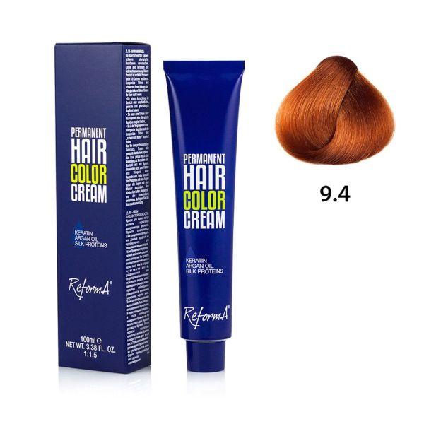 Hair Color Cream  9.4 - very light copper blonde, 100 ml