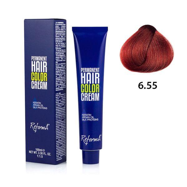 Hair Color Cream  6.55 - dark intense red brown, 100 ml