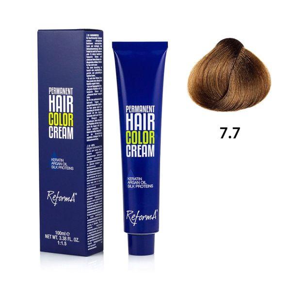 Hair Color Cream  7.7 - brown blonde, 100 ml