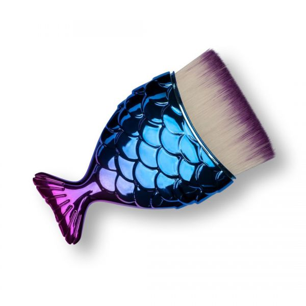 Fish brush - blue/violet - straight